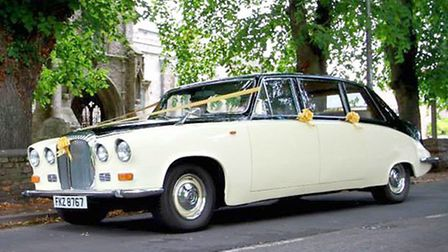 The classic Daimler DS420, which was believed to have been stolen in the early hours of January 19 f