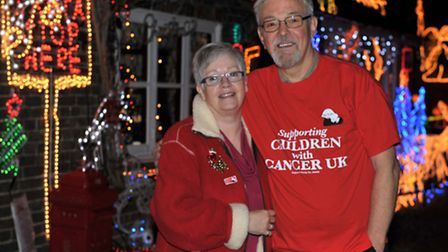 Christmas lights at Arnold Lane in Whittlesey.Gina and John Ferridge.Picture: Steve Williams.