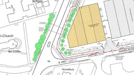 The map extract below highlights the proximity of the proposed grain store building in relation to t
