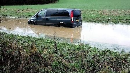 Burrough Green flooding, East Cambs