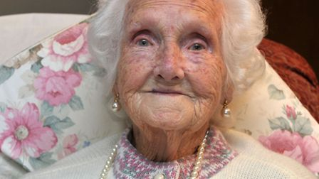 100 year Margery Gover from Wisbech. Picture: Steve Williams.