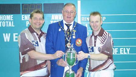 City of Ely's Greg Harlow and Nick Brett will be looking to win the World Indoor Bowls Championship'
