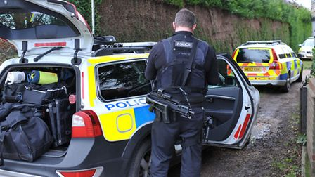 Firearms incident , Whittlesey Rd March. Picture: Steve Williams.