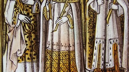 Late 15th century stained glass panel (English), 'Principalities'