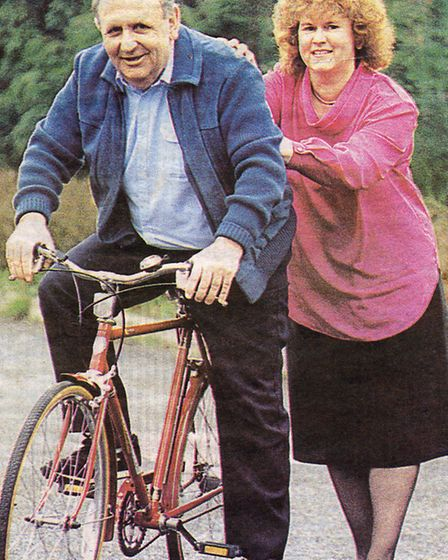 Bill and Brenda Bradshaw pictured at the time of Mr Bradshaw's retirement from this paper