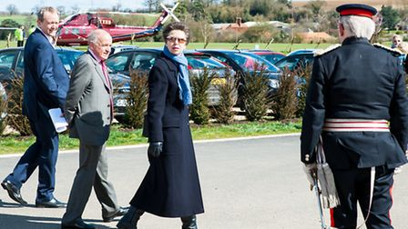 Princess Anne paid a visit to Manuden today (Tuesday).