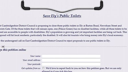 Lib Dems have begun a petition to save Ely loos