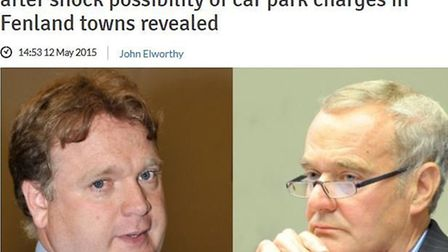 How we reported the opening clash between Fenland Council leader John Clark and Councillor Steve Tie