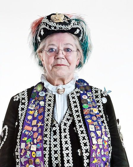 Peggy Oliver, the Pearly Queen of Redbridge.