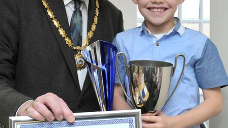 The 2015 Whittlesey citizen of the year awarded to Finley Coulson.Picture: Steve Williams.