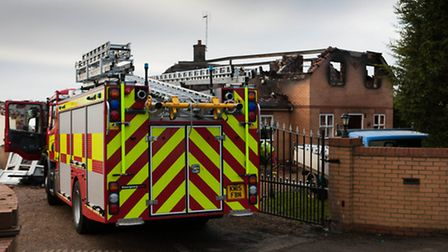 The family home in Thorney that was destroyed by fire has been targeted by thieves, who stole the h