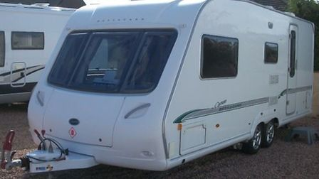 A 2007 Bessacarr Cameo caravan, similar to the one that was stolen from outside the burnt-out home o