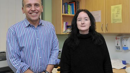 Dr David Donovan and Elaine tootle - who are launching a choir at the Riverside practice in March. P