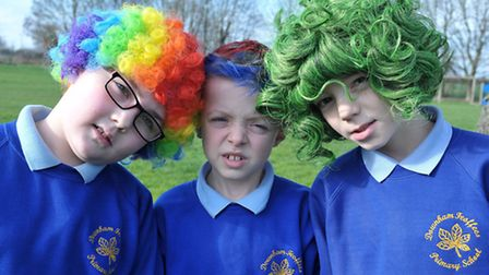 Bad Hair day for Great Ormond street at Downham Feoffees school, Little Downham. year 4. 5 and 6 pup