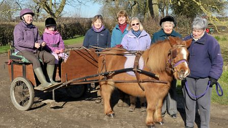 Riding for Disabled Association presentation to long serving 30-year-old pony who has served the RDA