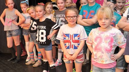 Dance Mania's Dress rehearsal for half-term show. March. Picture: Steve Williams.