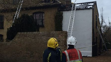 30 firefighters from crews around East Cambridgeshire tackled a blaze in Earith on Friday afternoon