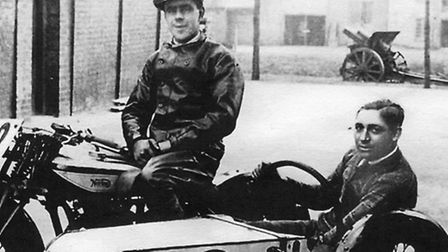 Horace Rose rider and Mr Marshall.