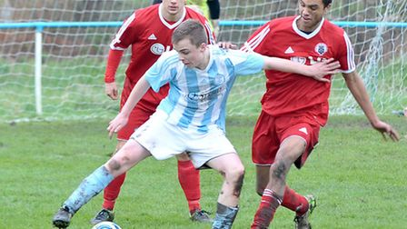 Action from Chatteris Town's 3-0 William Coad sem-final success over Girton United. Picture: Steve W