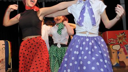 Soham Village College, Dress rehearsal of Grease. Picture: Steve Williams.