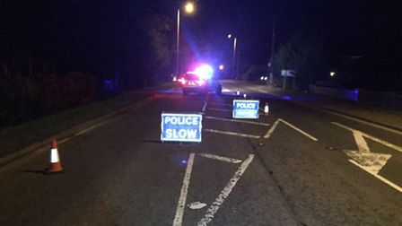 An ambulance and police attended the scene after a man in his 60s had a diabetic hyp on the A141 in