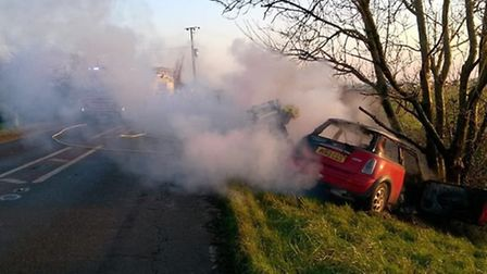 Cambridgeshire Fire and Rescue team tackle the blaze