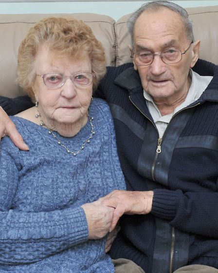 Jane and Douglas Mayes, 70th wedding anniversary. Picture: Steve Williams.