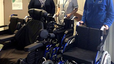 Bartrams supply wheelchairs for the Lewin Unit at Addenbrooke's Hospital following a fund raising ra