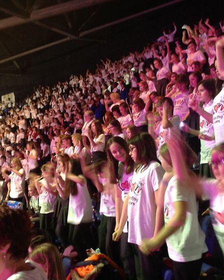 Little Thetford CE Primary School travelled to the O2 arena to form part of a choir of 7000 children