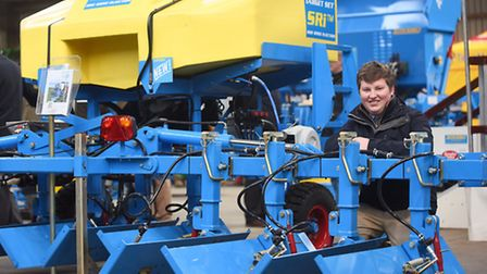 LAMMA 2016 at the East of England Showground. Pictured is Charlie Baker from Target Set Technology.