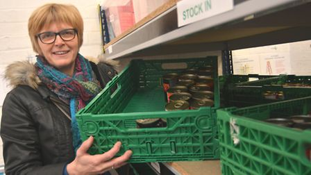 Cathy Wright, Ely Foodbank Project Director, is appealing for more stock.