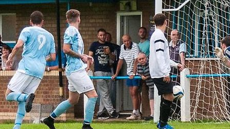 One of the Chatteris Town golas against Royston Town A. Picture: CHATTERIS TOWN TWITTER.