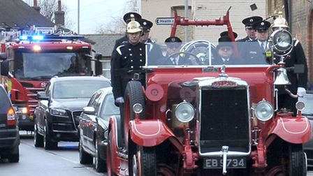 Malcolm James Bean Funeral. Whittlesey. Picture: Steve Williams.