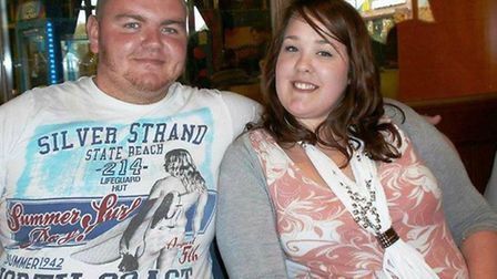 JJ Taylor and Lucy Bowers before the weight loss