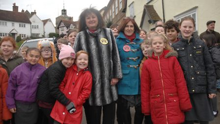Residents and children gathered to support the campaign