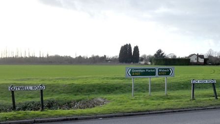 Outwell Road, Emneth where Mantas died. Picture: Steve Williams.