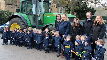 Children from King's Ely Acremont Nursery were thrilled to get a visit from a tractor