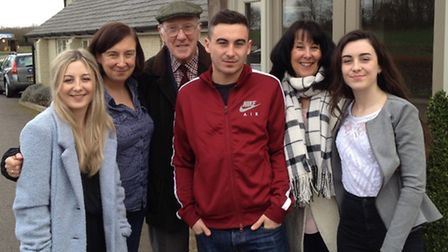 Gordon Wilson with family (Left to right) Kirsty, Gillian, Scott, Lesley and Mhairi