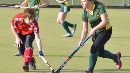 Action from Ely Ladies 2nds 6-1 win over Cambridge City 5ths.