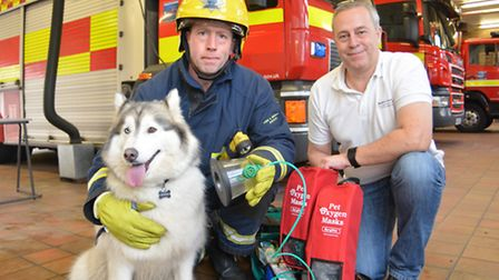 Pet-friendly oxygen masks are to be carried on some of Cambridgeshire's fire engines.