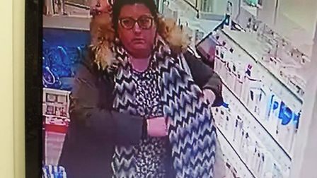 Police would like to speak to this woman in relation to a theft at Lloyds Pharmacy in Chatteris