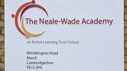 Neale-Wade Academy sign.