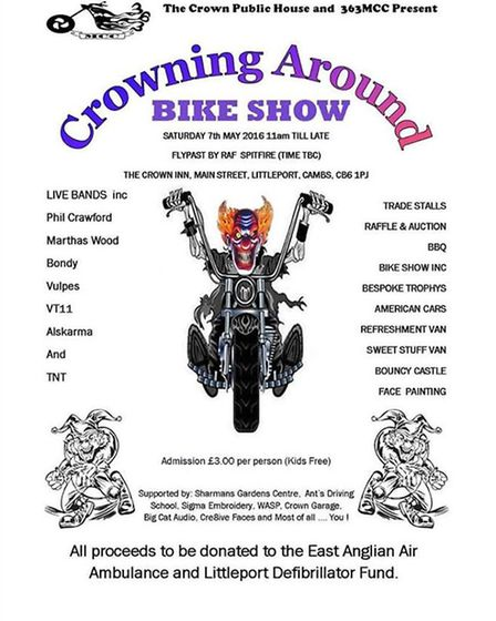 The Crowning Around charity bike show returns to Littleport for a revved up day of entertainment on