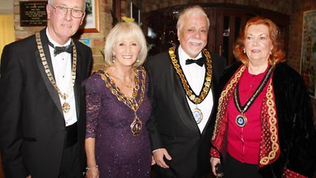 Councillor Michael Allen, chairman of East Cambridgeshire District Council and Mary, his wife, with