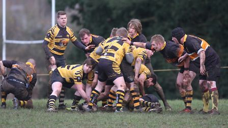 Action from Ely Tigers' visit to Swaffham. Photos: Steve Wells