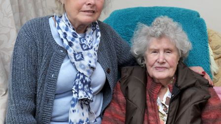 Roddons housing,Morton Avenue March. Left: Daughter Liz Haggie and Mother Edith Howson. Picture: Ste
