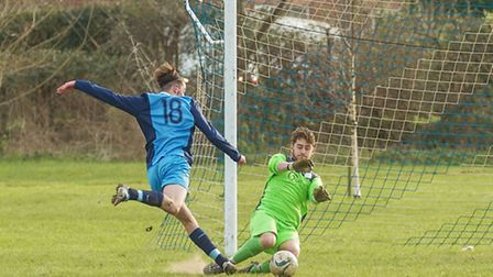 Mepal FC v Wisbech St Mary. Picture: Barry Giddings.