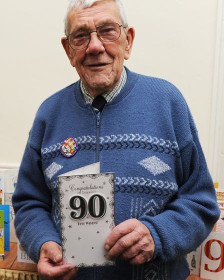 Maurice Short at his 90th Birthday party