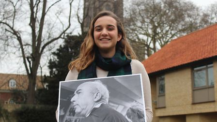 King's Ely Sixth Form student Maria Overtoom with her photograph that was highly commended by the Ec
