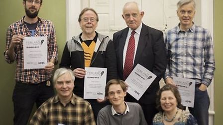 The winners at last year's Fenland Poet Laureate Ceremony.